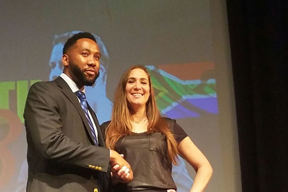 Holly with Ndaba Mandela, Grandson of Nelson Mandela