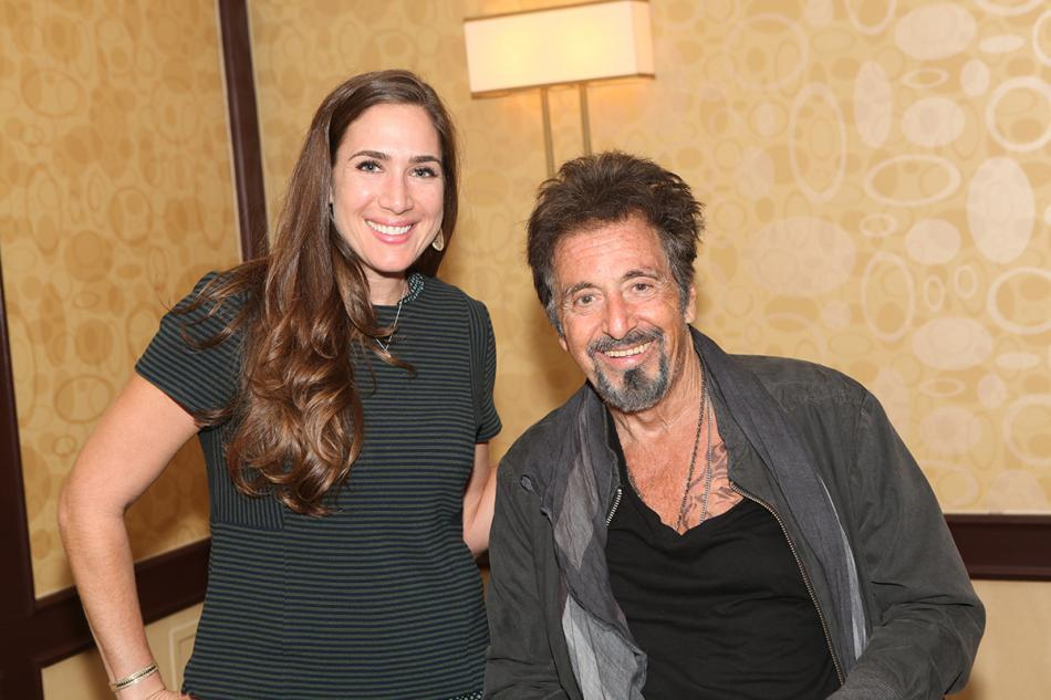 Holly and actor Al Pacino