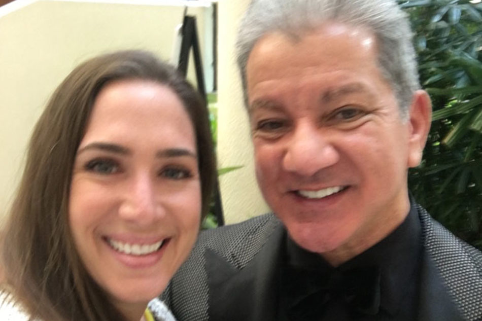 Holly and UFC announcer Bruce Buffer