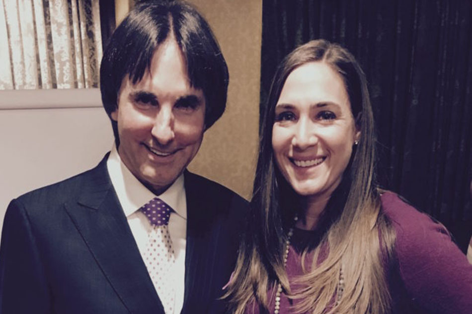 Holly and Dr. John Demartini, best selling author and international educator