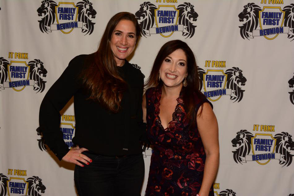 Holly with Randi Zuckerberg, CEO and founder of Zuckerberg Media, and former founder and Director of Market Development of Facebook
