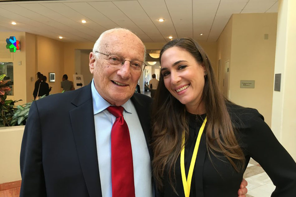 Holly with George Ross, Celebrity Apprentice judge