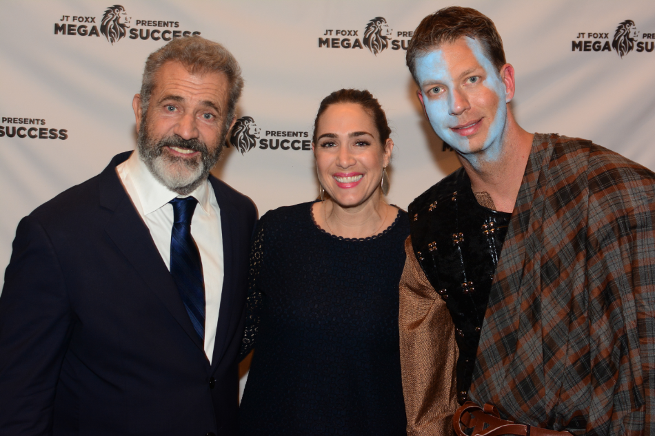 Holly with actor and filmmaker Mel Gibson