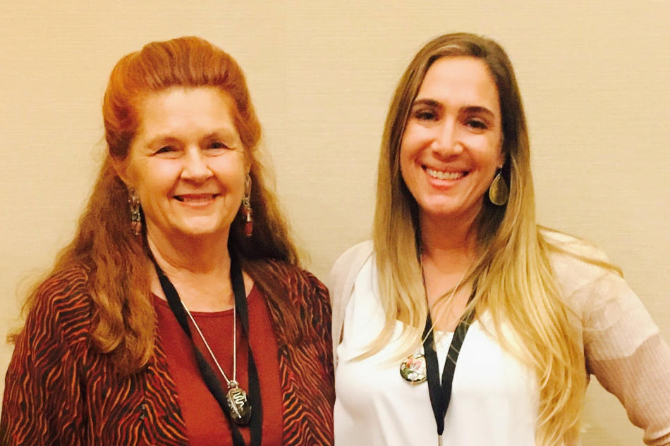 Holly and Gail Larsen, author of Transformational Speaking